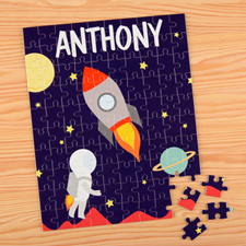 Space Personalized Name Kids Puzzle, 8x10