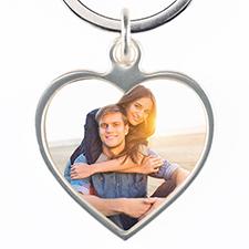 Metal Heart Keychain
