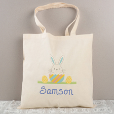 Easter Bunny Egg Personalized Tote, Boys