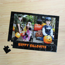 Two Collage Photo Jigsaw, Black