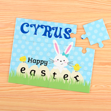 Happy Easter Persoanlzied Kids Puzzle