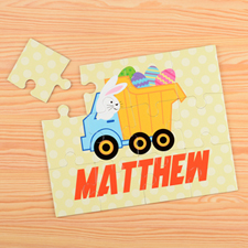 Easter Truck Persoanlzied Kids Puzzle