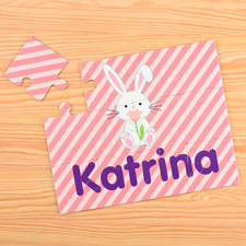 Easter Bunny Personalized Kids Puzzle