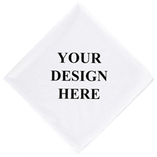 Custom Full Color Bandana Handkerchief with Text, 14x14 inch