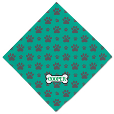 Bone and Paw Print Personalized Name Dog Bandanas 45