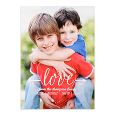 Heart & Arrow Personalized Photo Valentine's Card, 5x7 Flat