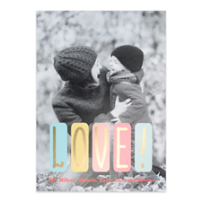 Pastel Love Personalized Photo Valentine's Card