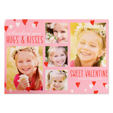 Sweet Valentine Personalized Photo Card, 5x7 flat
