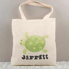 Turtle Personalized Cotton Tote