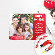 Happy Holiday Photo Magnets, Red