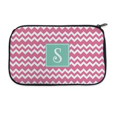 Pink Chevron Personalized Neoprene Cosmetic Bag
