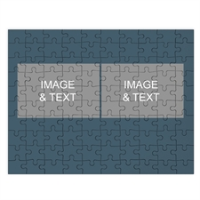 Two Collage Photo Puzzle, Dark Blue