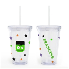 Create Your Own Frankenstein Halloween Acrylic Tumbler