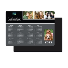 Personalized 2018 Four Collage Photo Magnet Calendar 3.5