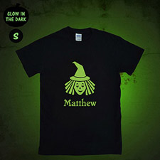 Witch Personalized Glow In The Dark Halloween T Shirt, Adult Small