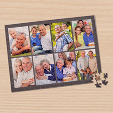 Eight Collage Photo Puzzle, Dark Grey