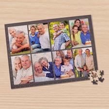 Eight Collage Photo Puzzle, Dark Grey