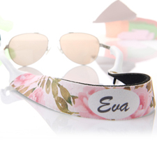 Watercolor Floral Personalized Sunglass Strap