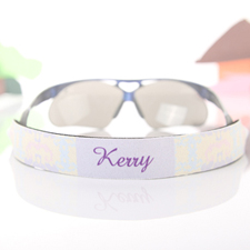 Pastel Greek Pattern Personalized Sunglass Strap