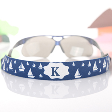 Navy Voyage Personalized Sunglass Strap