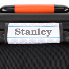 Grey Chain Personalized Luggage Handle Wrap