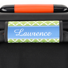 Lime Scallop Personalized Luggage Handle Wrap