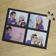 Four Collage Photo Puzzle, Black