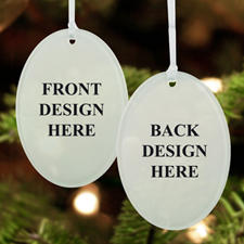 Design Your Own Photo Acrylic Ornament, Oval