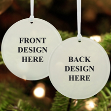 Custom Full Color Print Acrylic Ornament Round Shape