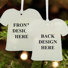 Custom Full Color Print Acrylic Ornament T-Shirt Shape