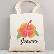 Tropical Flower Personalized Summer Cotton Tote