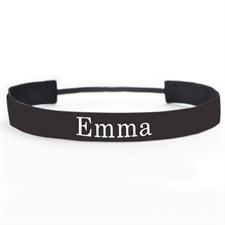 Black Personalized 1 Inch Non-Slip Athletic Headband