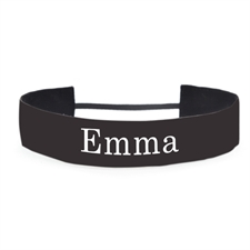 Black Personalized 1.5 Inch Non-Slip Athletic Headband