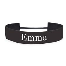 Black Personalized 1.5 Inch Non-Slip Athletic Headband