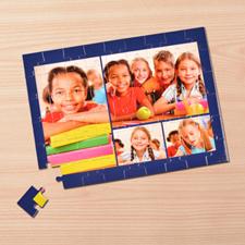 4 Photo Collage, Dark Blue