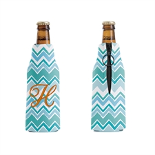 Embroidery Personalized Zig Zag Bottle Cooler