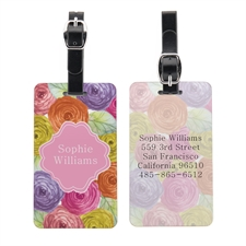 Watercolor Floral Portrait Personalized Luggage Tag