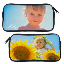 Custom Photo Neoprene Pencil Case ( Custom Front and back)
