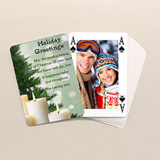 Bridge Style Custom Front and Back Playing Cards, Christmas Gifts
