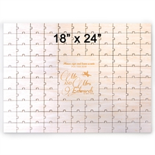 18 x 24 Engraved Guestbook Heart Shaped Jigsaw Puzzle (99 pieces)