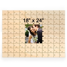 18 x 24 Personalized Printed Middle Wooden Guestbook Puzzle (99 pieces)