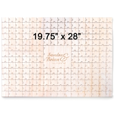 19.75 x 28 Engraved Wooden Guestbook Heart-Shaped Jigsaw Puzzle (209 pieces)