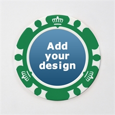 Personalized Crown Green Poker Chip