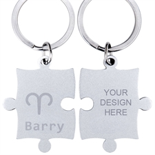 Aries Symbol Personalized Engraved Puzzle Keychain