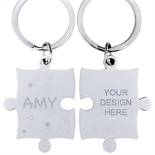 Customized Stars Engraved Puzzle Keychain