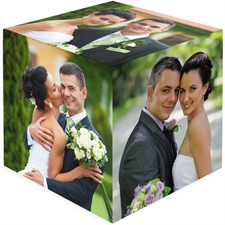Personalized 6 Panels Wood Photo Cube