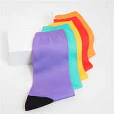 Custom Text Unisex Full Colored Socks, Medium