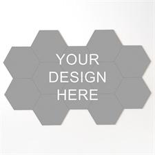 Personalized Hexagon Coaster Puzzle Tiles, Set of 12 Pieces