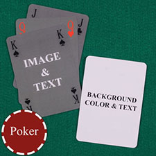 Simple Bridge Style Poker Size Personalized Both Sides Playing Cards