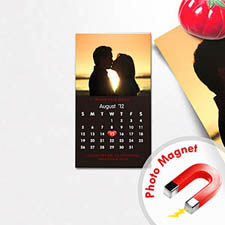 Create Black Save The Date Portrait Calendar 2x3.5 Card Size Magnet